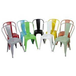 chaise metal bois industrielle achat vente chaise metal bois industrielle pas cher cdiscount. Black Bedroom Furniture Sets. Home Design Ideas