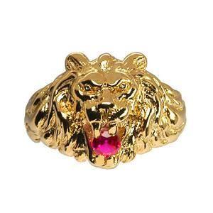 Bague Chevalière Lion Zirconia R...