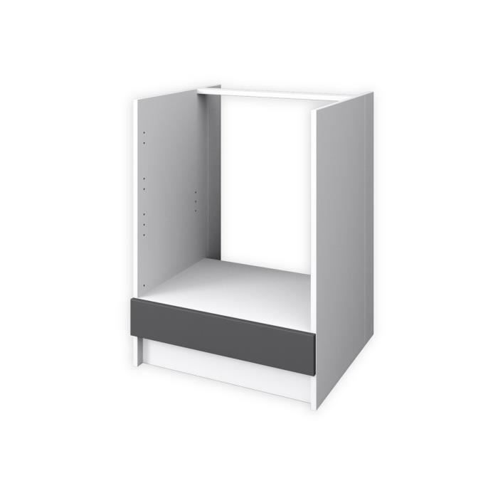 obi meuble bas four 60 cm gris mat achat vente elements bas meuble bas four cdiscount. Black Bedroom Furniture Sets. Home Design Ideas
