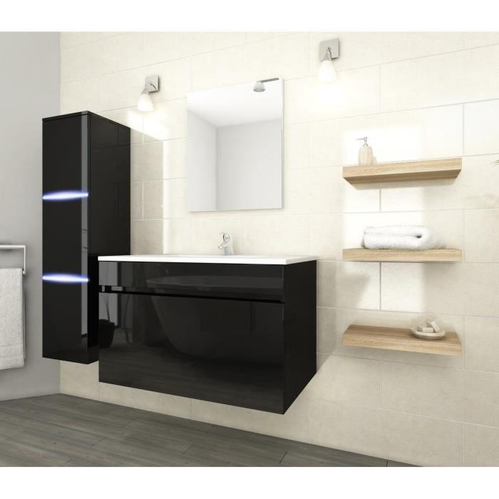 Neptune salle de bain compl te simple vasque 80 cm avec for Achat salle de bain complete