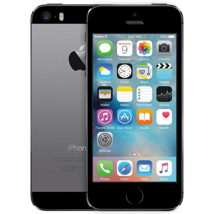 iphone 5s noir 32go remis a neuf achat smartphone recond. Black Bedroom Furniture Sets. Home Design Ideas