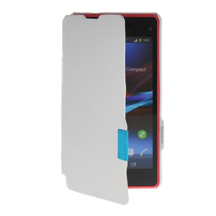 Coque housse tui sony xperia z1 compact blanc achat for Housse xperia x compact