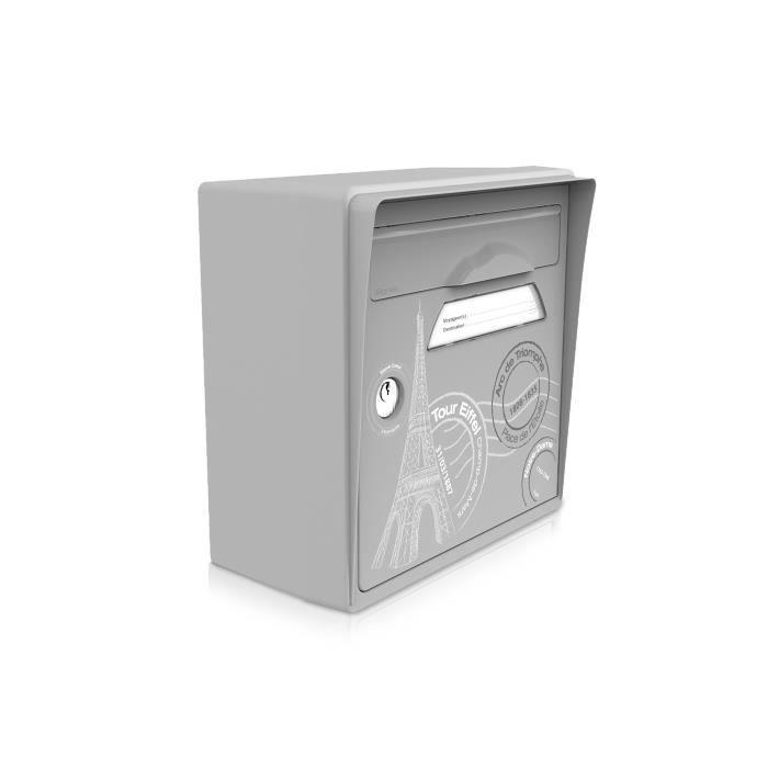 boite aux lettres murale grise paris est belle achat vente boite aux lettres cdiscount. Black Bedroom Furniture Sets. Home Design Ideas