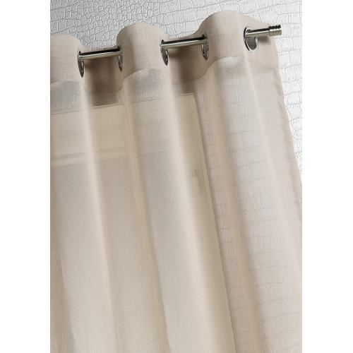 voilage etamine unie moderne lin 140 x 260 achat vente. Black Bedroom Furniture Sets. Home Design Ideas