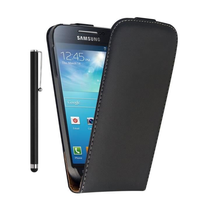 Housse etui cuir samsung galaxy s3 mini i8190 st achat for Housse samsung s3