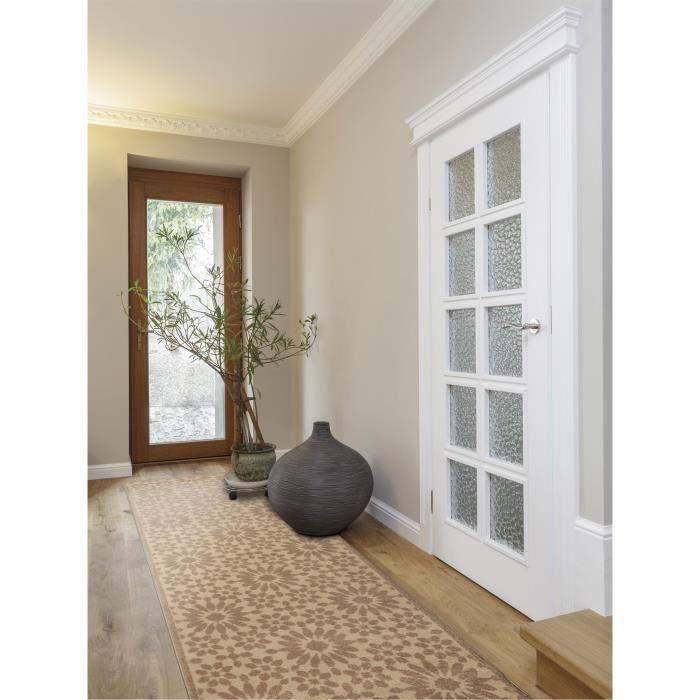 Benuta tapis de couloir gazania taupe 80x240 cm achat vente tapis cadeaux de no l cdiscount - Couloir gris taupe ...