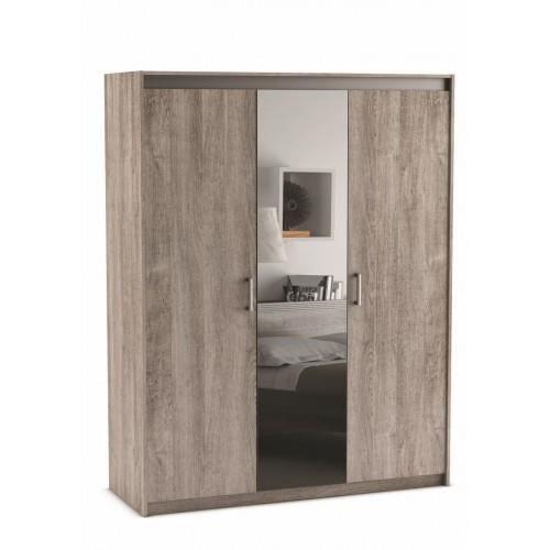 Armoire diva 3 portes miroir achat vente armoire de for Achat armoire chambre