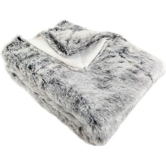 plaid imitation fourrure ours gris achat vente couverture plaid cdiscount. Black Bedroom Furniture Sets. Home Design Ideas