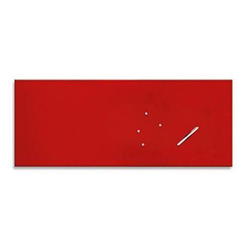 eurographics memo board mb red50125 tableau magn tique en verre essuyable a sec avec stylo et. Black Bedroom Furniture Sets. Home Design Ideas