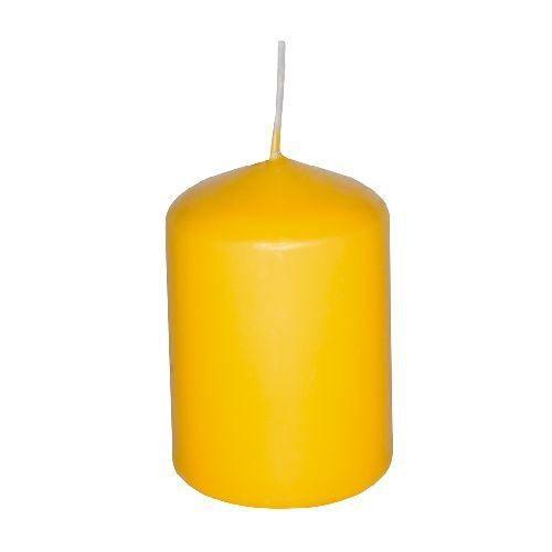 bougie cylindrique color e longue dur e jaune achat vente bougie d corative cdiscount. Black Bedroom Furniture Sets. Home Design Ideas