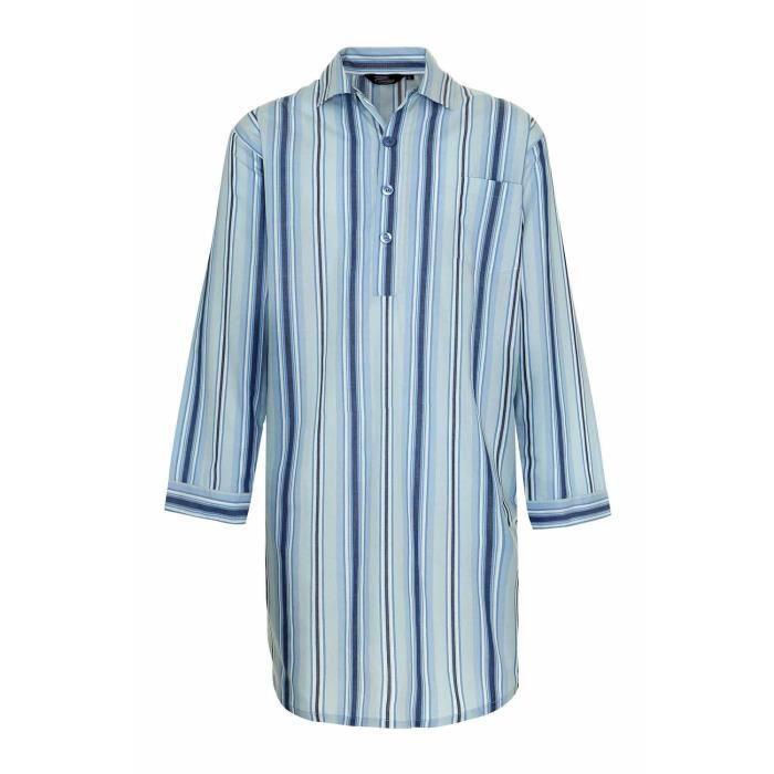 chemise de nuit homme achat vente chemise de nuit homme pas cher cdiscount. Black Bedroom Furniture Sets. Home Design Ideas