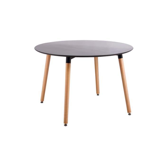 Table ronde noir kolding achat vente table manger table ronde noir kold - Table ronde cdiscount ...