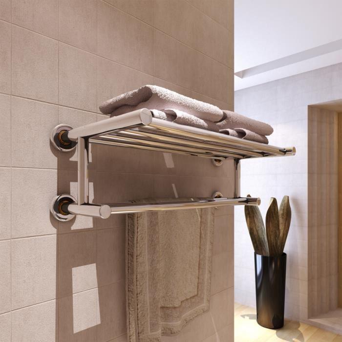 Porte serviettes double barre fixe 6 tubes achat - Porte serviettes salle de bains ...