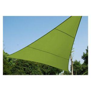 Toile solaire triangle 4m anori vert hesperide achat for Toile verte pour jardin