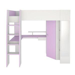 lit mezzanine 120x200 achat vente lit mezzanine 120x200 pas cher cdiscount. Black Bedroom Furniture Sets. Home Design Ideas