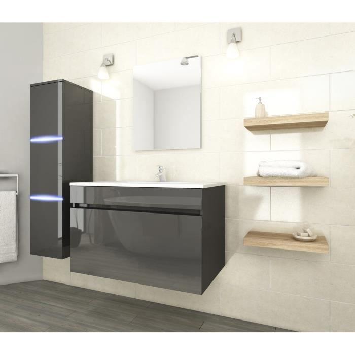Neptune salle de bain compl te simple vasque 80 cm avec for Applique led salle de bain 80 cm