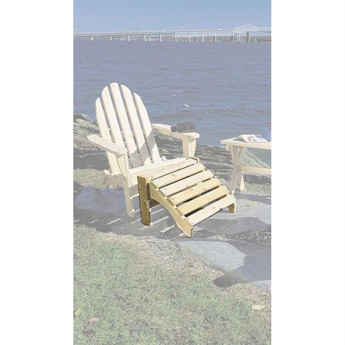 Repose pied pour fauteuil bois adirondak achat vente for Chaise longue bois avec repose pied