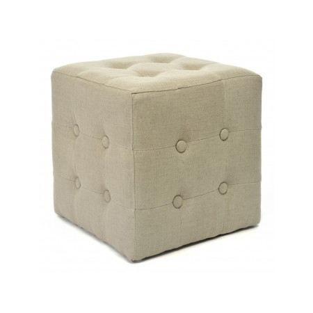 pouf capitonn chesterfield lin beige achat vente pouf poire cdiscount. Black Bedroom Furniture Sets. Home Design Ideas