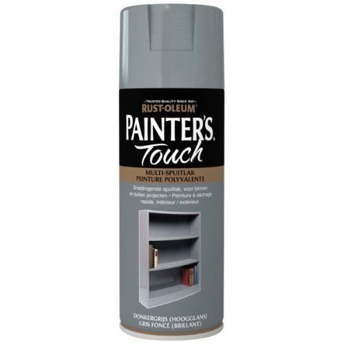 Rust oleum ae0040015e9 peinture gris fonc brillant achat vente peinture vernis cadeaux for Peinture gris brillant