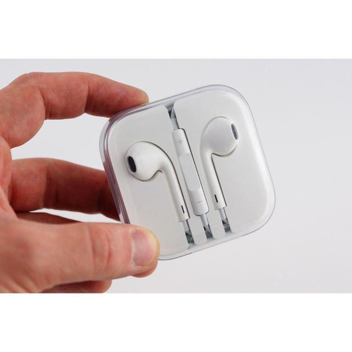 ecouteur earpod pour iphone 5 4 3 achat kit pi ton pas. Black Bedroom Furniture Sets. Home Design Ideas