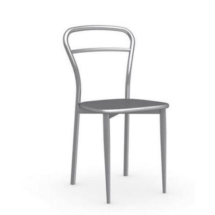 Chaise diva en acier satin et aluminium de calligaris achat vente chaise cdiscount for Chaise en acier poitiers