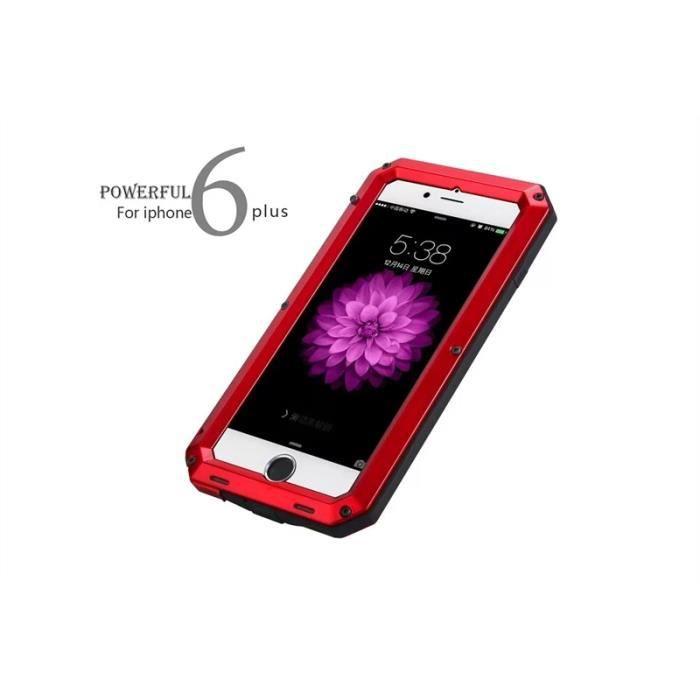 pour apple iphone 6 plus 5 5 pouces moonmini coque m tale etui etanche et imperm able rouge. Black Bedroom Furniture Sets. Home Design Ideas