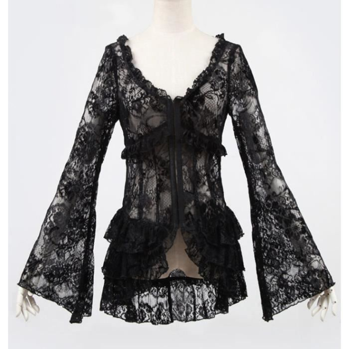 top noir transparent en dentelle achat vente t shirt cdiscount. Black Bedroom Furniture Sets. Home Design Ideas