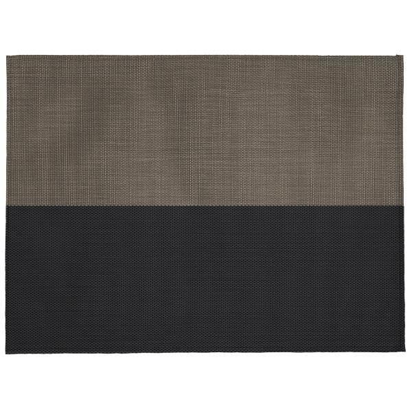 2 sets de table rectangulaire bi colore taupe noir achat for Set de table rectangulaire