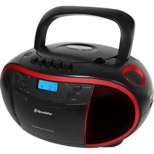 ROADSTAR RCR 3750RD Radio Cassette Portable MP3 Tuner Analogique Mw/Fm Port USB Entrée Auxiliaire Fonction Horloge Prise Casque