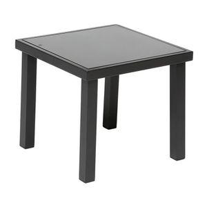 Table basse de jardin noire achat vente table basse de for Table exterieur plastique noir