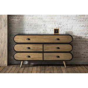 meuble style industriel achat vente meuble style industriel pas cher cdiscount. Black Bedroom Furniture Sets. Home Design Ideas