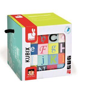 CUBE ÉVEIL JANOD Kubix 40 Cubes Lettres + Chiffres