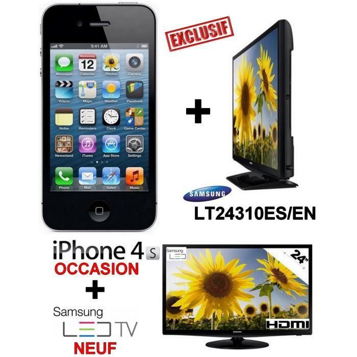 samsung tv led 24 pouces iphone 4s bon etat noir. Black Bedroom Furniture Sets. Home Design Ideas