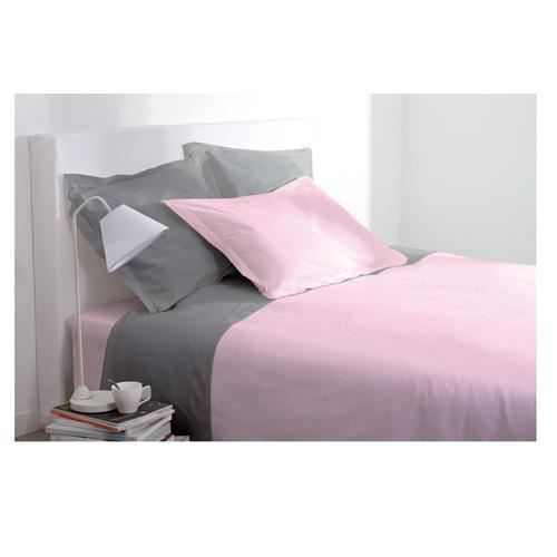 housse de couette 220 x 240 cm rose clair achat vente housse de couette cdiscount. Black Bedroom Furniture Sets. Home Design Ideas