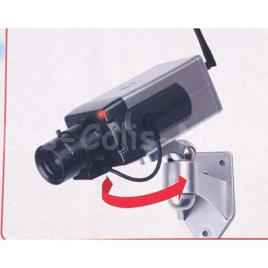 camera factice detecteur de mouvement motorise achat. Black Bedroom Furniture Sets. Home Design Ideas