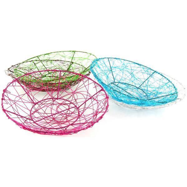 2 coupelles a dragees ou de deco fil alu fuchsia achat vente d cors de table cdiscount. Black Bedroom Furniture Sets. Home Design Ideas