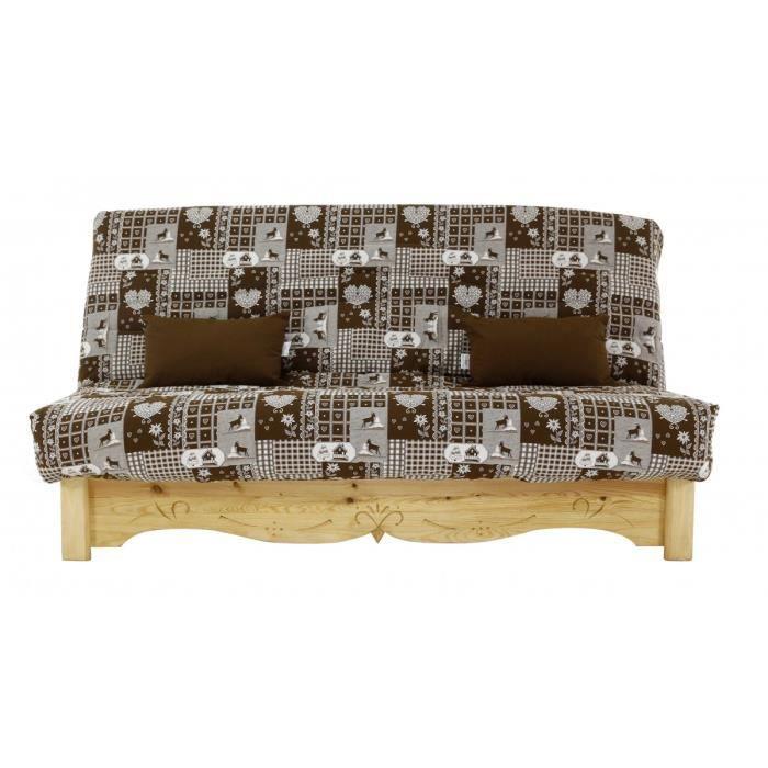 canap convertible clic clac pin massif sculpt 130 x 190. Black Bedroom Furniture Sets. Home Design Ideas