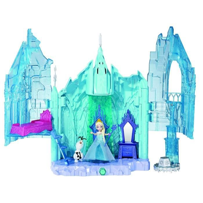 frozen la reine des neiges ch teau de glace d 39 elsa achat vente maison poup e cdiscount. Black Bedroom Furniture Sets. Home Design Ideas