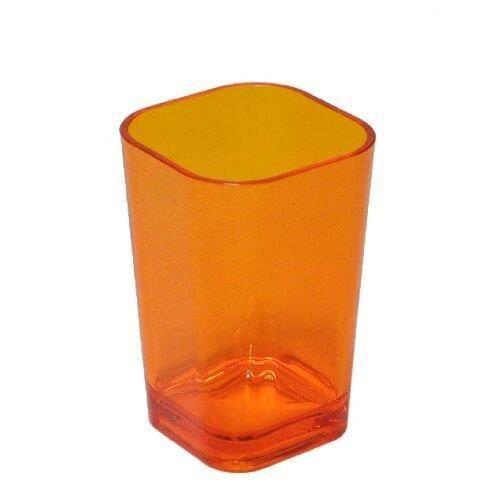 verre dents en verre acrylique orange achat vente porte accessoire verre dents en verre. Black Bedroom Furniture Sets. Home Design Ideas