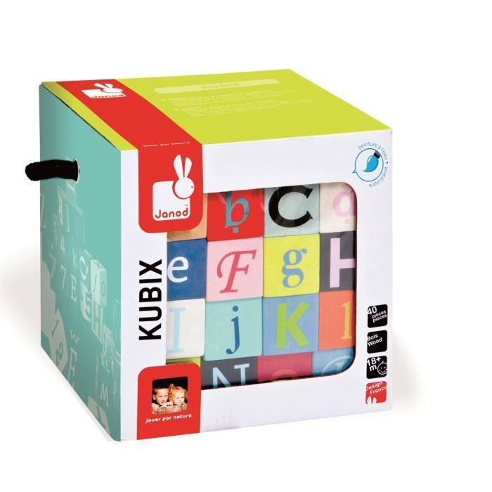 Janod kubix 40 cubes lettres chiffres achat vente - Cuisine en bois janod ...