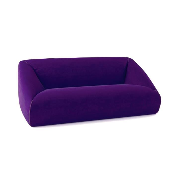 Canap pack up 2 places violet achat vente canap for Canape 2 places alcantara