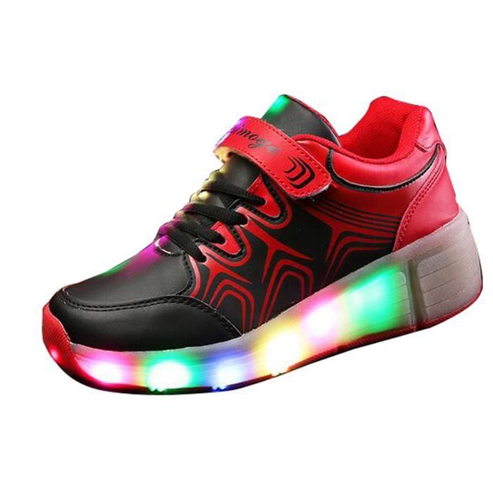 BASKET Enfant Unisexe Chaussures à roulette Baskets Sneak