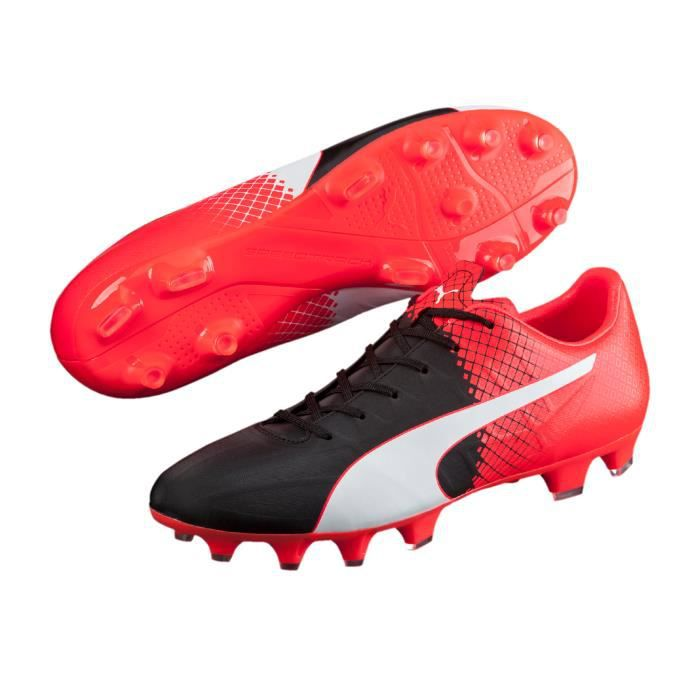 chaussure de foot puma rouge et blanc,FG 15 16 Puma