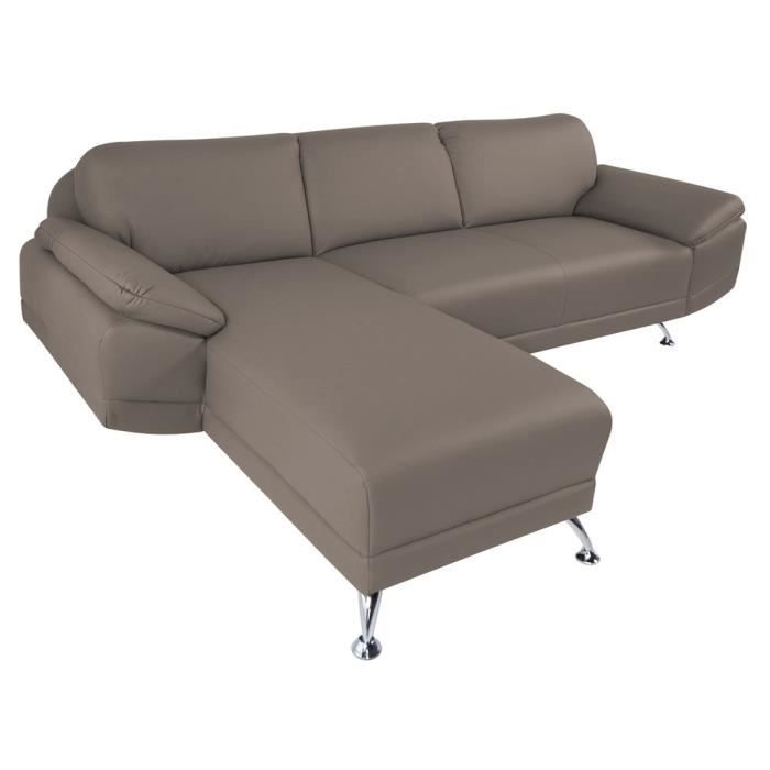 Canap d 39 angle gauche switsofa city taupe achat vente for Canape d angle taupe