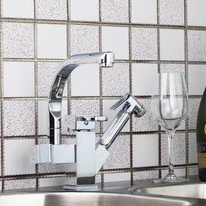 ROBINETTERIE DE CUISINE Laiton chromé robinet d'évier de cuisine mitigeur