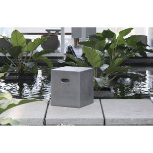 Meuble aspect beton achat vente meuble aspect beton pas cher cdiscount for Avis table de jardin alu fibre de ciment