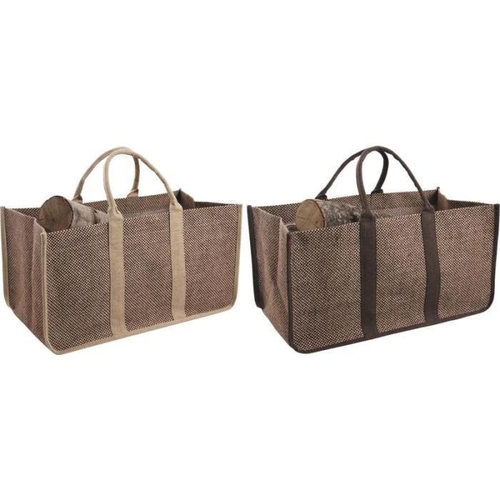panier sac b ches en jute plastifi e achat vente. Black Bedroom Furniture Sets. Home Design Ideas