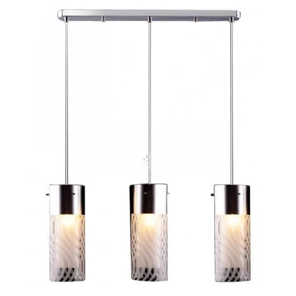 suspension 3 lampes verre motif emma achat vente. Black Bedroom Furniture Sets. Home Design Ideas