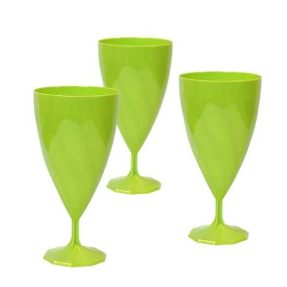 6 verres vin plastique rigide vert anis 15 18cl achat vente verre jetable cdiscount. Black Bedroom Furniture Sets. Home Design Ideas
