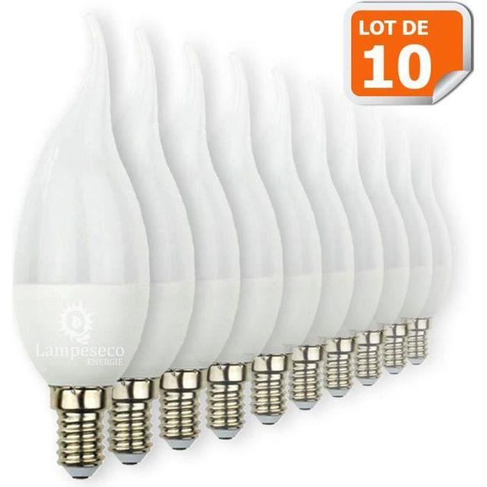 lot de 10 ampoules led flamme 5w super puissant achat. Black Bedroom Furniture Sets. Home Design Ideas
